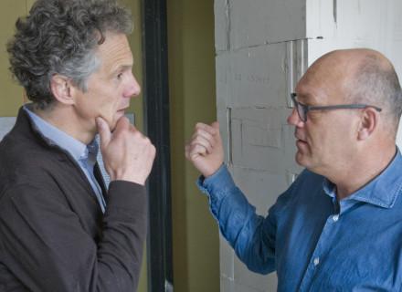 Eigenaar Geert ter Steeg en architect Bertus de Kock - foto: Allard de Goeij