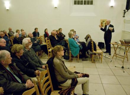 Lezing Cees de Wit in de Trinitatiskapel - foto: Allard de Goeij