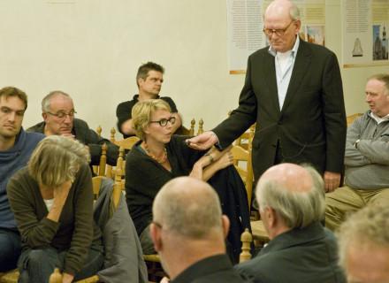 Vragen uit de zaal: Heleen Kromkamp - foto: Allard de Goeij