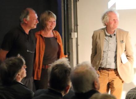 Roland van Meel, Marieke van Leeuwen en Frans den Houter, foto: Allard de Goeij
