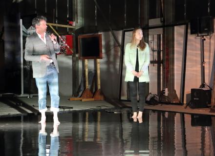 Nathalie Rabouille en Chico Leufkens, foto: Allard de Goeij