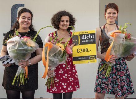 Oumaima Belkhdar, Nina van Tongeren en Marthe van Bronkhorst (vlnr, foto: Allard de Goeij)